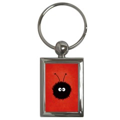 Red Cute Dazzled Bug Key Chain (rectangle)