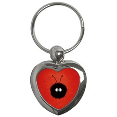 Red Cute Dazzled Bug Key Chain (Heart)