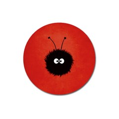 Red Cute Dazzled Bug Magnet 3  (Round)