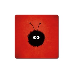 Red Cute Dazzled Bug Magnet (Square)
