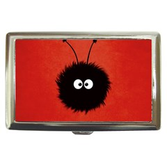 Red Cute Dazzled Bug Cigarette Money Case