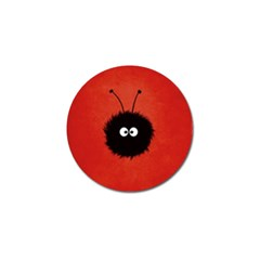 Red Cute Dazzled Bug Golf Ball Marker 4 Pack