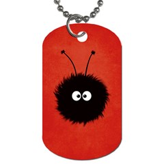 Red Cute Dazzled Bug Dog Tag (Two-sided)