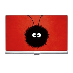 Red Cute Dazzled Bug Business Card Holder