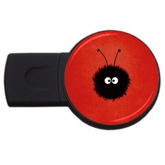 Red Cute Dazzled Bug 1GB USB Flash Drive (Round)