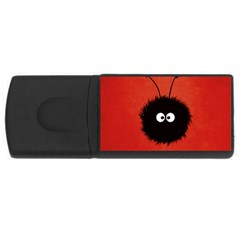 Red Cute Dazzled Bug 2GB USB Flash Drive (Rectangle)