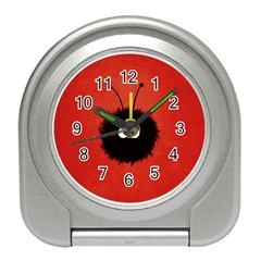 Red Cute Dazzled Bug Desk Alarm Clock