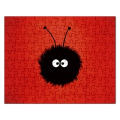 Red Cute Dazzled Bug Jigsaw Puzzle (Rectangle)