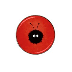 Red Cute Dazzled Bug Golf Ball Marker 4 Pack (for Hat Clip)