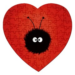 Red Cute Dazzled Bug Jigsaw Puzzle (heart)