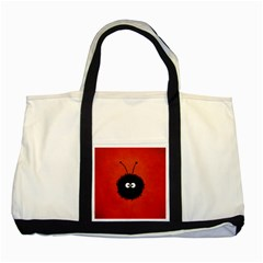 Red Cute Dazzled Bug Two Toned Tote Bag