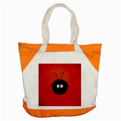 Red Cute Dazzled Bug Accent Tote Bag