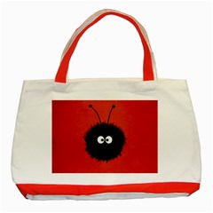 Red Cute Dazzled Bug Classic Tote Bag (Red)