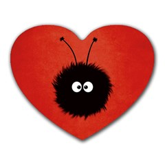 Red Cute Dazzled Bug Mouse Pad (Heart)
