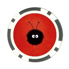 Red Cute Dazzled Bug Poker Chip
