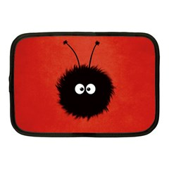 Red Cute Dazzled Bug Netbook Sleeve (Medium)