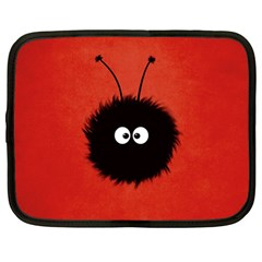 Red Cute Dazzled Bug Netbook Sleeve (large)