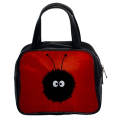 Red Cute Dazzled Bug Classic Handbag (two Sides)