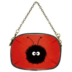 Red Cute Dazzled Bug Chain Purse (one Side)
