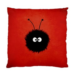 Red Cute Dazzled Bug Cushion Case (Two Sided)