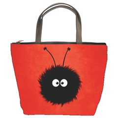 Red Cute Dazzled Bug Bucket Handbag