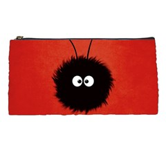 Red Cute Dazzled Bug Pencil Case