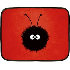 Red Cute Dazzled Bug Mini Fleece Blanket (two Sided)