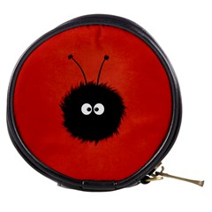 Red Cute Dazzled Bug Mini Makeup Case