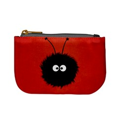 Red Cute Dazzled Bug Coin Change Purse