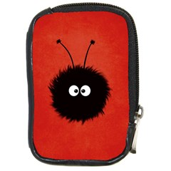 Red Cute Dazzled Bug Compact Camera Leather Case