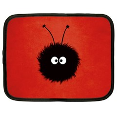 Red Cute Dazzled Bug Netbook Sleeve (XL)