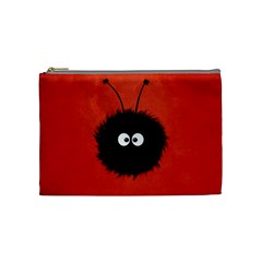 Red Cute Dazzled Bug Cosmetic Bag (Medium)