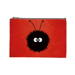 Red Cute Dazzled Bug Cosmetic Bag (large)