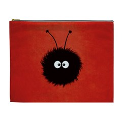 Red Cute Dazzled Bug Cosmetic Bag (xl)