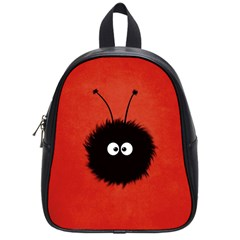 Red Cute Dazzled Bug School Bag (small)