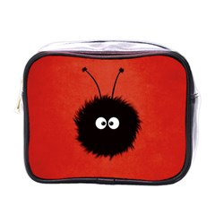 Red Cute Dazzled Bug Mini Travel Toiletry Bag (one Side)