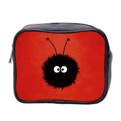 Red Cute Dazzled Bug Mini Travel Toiletry Bag (two Sides)