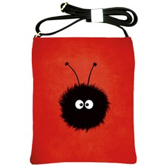 Red Cute Dazzled Bug Shoulder Sling Bag
