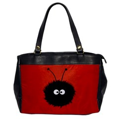 Red Cute Dazzled Bug Oversize Office Handbag (One Side)
