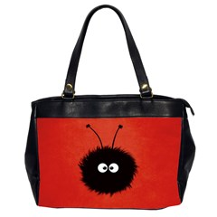Red Cute Dazzled Bug Oversize Office Handbag (Two Sides)