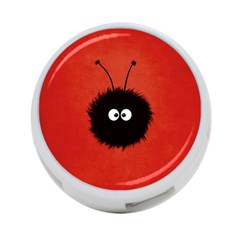 Red Cute Dazzled Bug 4-Port USB Hub (One Side)