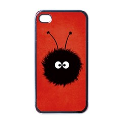 Red Cute Dazzled Bug Apple Iphone 4 Case (black)