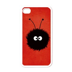 Red Cute Dazzled Bug Apple Iphone 4 Case (white)
