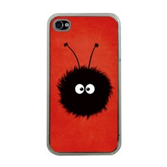 Red Cute Dazzled Bug Apple iPhone 4 Case (Clear)
