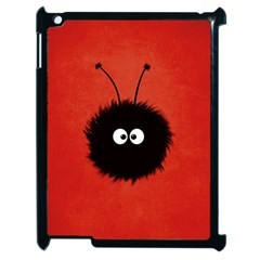 Red Cute Dazzled Bug Apple iPad 2 Case (Black)