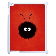 Red Cute Dazzled Bug Apple iPad 2 Case (White)
