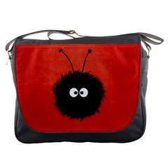 Red Cute Dazzled Bug Messenger Bag