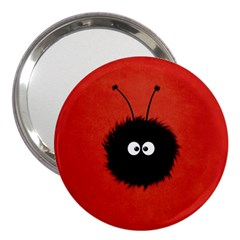Red Cute Dazzled Bug 3  Handbag Mirror