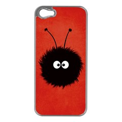 Red Cute Dazzled Bug Apple Iphone 5 Case (silver)