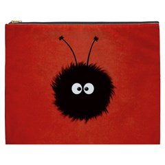 Red Cute Dazzled Bug Cosmetic Bag (xxxl)